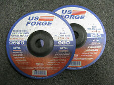 NEW US FORGE 00707 GRINDING WHEEL A24R 7 X 1/4 X 7/8 MAX. RPM. 8,600 - 2 PCS!