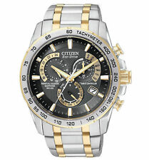 New Citizen Eco-Drive AT4004-52E Two Toned Gold Retail $595