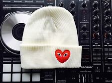 Comme Des Garcons supreme Box Logo Hip Hop Beanie White/Red