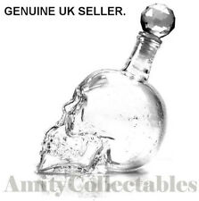 Gothic CRYSTAL SKULL Bottle Decanter Whiskey Vodka Glass - 550ml