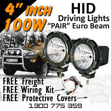 HID Driving Lights - Compact 4 inch 100w EURO 4x4 4wd Off Road 12v 24v