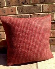 "1 2 4 Harris Tweed 18 "" ""LANA Copricuscino Rosso Ruggine Tetrad Marrone Borgogna velluto"