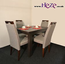 Extending dining table in oak wenge, solid, great for all kitchens and rooms!