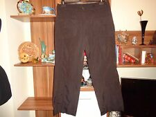 SULU BY KERSTIN BERNECKER BROWN COTTON&POLYESTER WIDE LEG RELAXED PANTS-L,14-UK