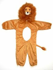 Shaggy Lion Head Plush Halloween Costume Golden Brown Child Size Small S 2-3