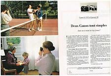 Publicité Advertising 1980 (2 pages) Appareil photo canon A 35 F et Canonet 28