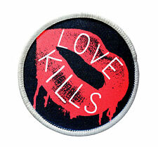 Patch - Love Kills Patch - Heat Seal / Iron on Patch for jackets, shirts, totes