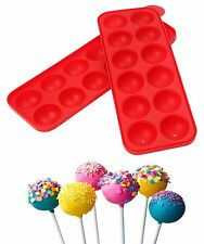 Dexam 12 Cup Cake Pop Mould Set Mold Baking Tray Sticks Silicone Re-usable Party