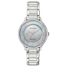 Citizen Ladies Diamond Set Eco-Drive Solar Power. Classic Elegance. EM0380-65D