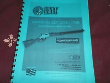 HENRY, Golden Boy, .22lr/ .22mag/ .17hmr  Instruction Manual,   13 Pages