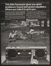 1984 PANASONIC RX-F4 Stereo BOOMBOX - BREAK DANCE  DANCING VINTAGE ADVERTISEMENT