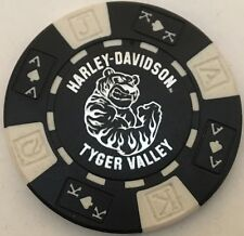 TYGER VALLEY, CAPE TOWN, SOUTH AFRICA HARLEY DAVIDSON POKER CHIP (BLACK & WHITE)