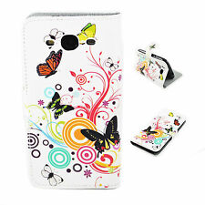 White Leather Print Wallet Stand Cover Case For Samsung Galaxy S3 S III i9300