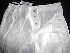 casual pants LACOSTE Cotton linen trousers white 40/34 NEW TAGS £120 SLIM eu 50