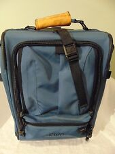 LL Bean Blue Canvas Travel Carry-On Luggage Bag Wheeled