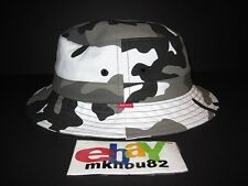 New Supreme Urban Snow Camo Crusher Bucket Hat Black White Cap camp Size S / M