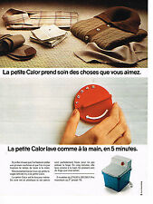 PUBLICITE ADVERTISING  1976   CALOR  machine à laver