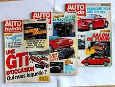 245- ANCIEN MAGAZINE 3 REVUE AUTO HEBDO 1988 N°620 à 622 PORSCHE LAMBORGHINI GTI