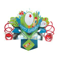 Golf Birthday Pop-Up Greeting Card Original Second Nature 3D Pop Up Cards
