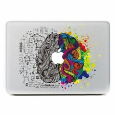 Left  Right Creative Brain Laptop MAC  Macbook decal sticker for Air Pro Retina