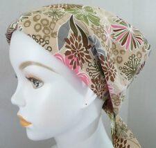 Fun Floral Chemo Cancer Hat Alopecia Hairloss Scarves Turban Headwrap Headcover