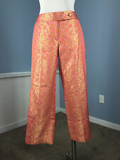 NEW J Crew Collection pink gold brocade 8 $228 work Cocktail Pant Silk metallic