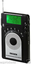 Mini AM FM Stereo SW Digital Tuning Radio! Degen DE15 Gift Pack! Free Shipping!