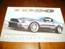 2012 SHELBY 1000  MUSTANG - DOUBLE SIDED SALES SHEET / BROCHURE