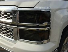 14-15 CHEVY SILVERADO SMOKE HEAD LIGHT PRECUT TINT COVER SMOKED OVERLAYS