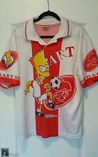 90s Bart Simpso Football Shirt Ajax Large Official Simpsons Soccer Jersey