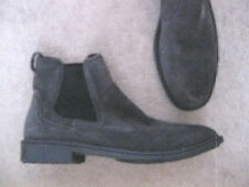 Men's BORN Gray Suede Pull On Ankle Boots 12 M - NEW!