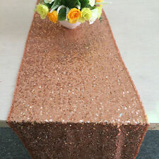 Gold sequin table runner -- Sparkly Rose Gold Sequin Table Runner(12''*72'')