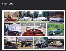 Cord 810,812 History - Out of Print Very Hard to Find Car Poster!Own It One Only
