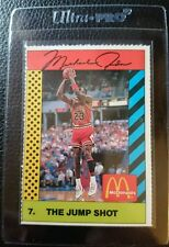 1990 MCDONALD'S #7 THE JUMP SHOT MICHAEL JORDAN CHICAGO BULLS HOF