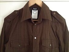 Awesome MENS BROWN D&G SHIRT Size 38 Inch Chest