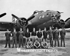 USAAF WW2 B-17 Bomber Capt Parker Crew 8x10 Photo 92nd BG WWII
