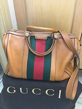 Gucci Vintage Web Boston Bag / Brown / $1300