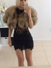 Genuine Fox fur bolero jacker size S-M