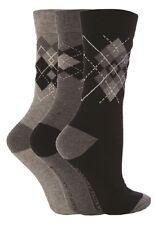 6 pack Ladies Gentle Grip Socks Honeycomb Top Size 4-8 Uk, 37-42 Eur AQ32
