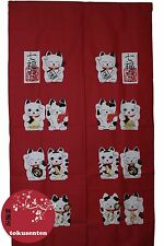 NOREN Traditionnel MANEKI NEKO Japanese Noren Japonais Rideaux MADE IN JAPAN
