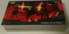 STAR WARS TOPPS the Clone Wars widevision PARALLEL CARD Lot of 15 x/500  no dups