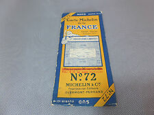 Carte michelin N°72 ANGOULEME-LIMOGES 1924/collector BIBENDUM vintage