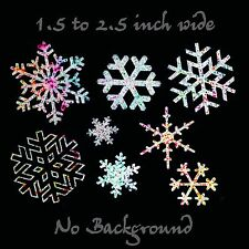 Snowflakes Decal 8 Pack - Glitter Chrome Snowflake Sticker Set