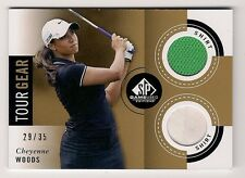 Cheyenne Woods 2014 SP GAME USED GOLF Card #CW Ltd #29/35 DUAL SHIRT TOUR GEAR