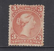 Canada Sc 25 MLH. 1868 3c red Queen Victoria, Usual Centering, Scarce