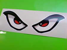 EVIL EYES Large Car Motorcycle Helmet Stickers Decals 1 off Pair 170mm