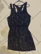 405  Love 21 Black Sequin Sleeveless 2 for 1 Cocktail Dress M