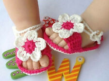 Baby Newborn Infant Girls Crochet Knit Socks Crib Shoes Prewalker 0-12 Months