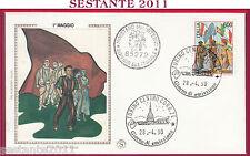 ITALIA FDC FILAGRANO GOLD CENTENARIO 1° MAGGIO 1990 ANNULLO TORINO T61