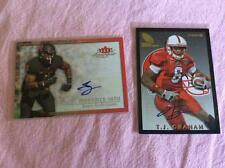 2 Autographed Rookie Football Cards Lot 168